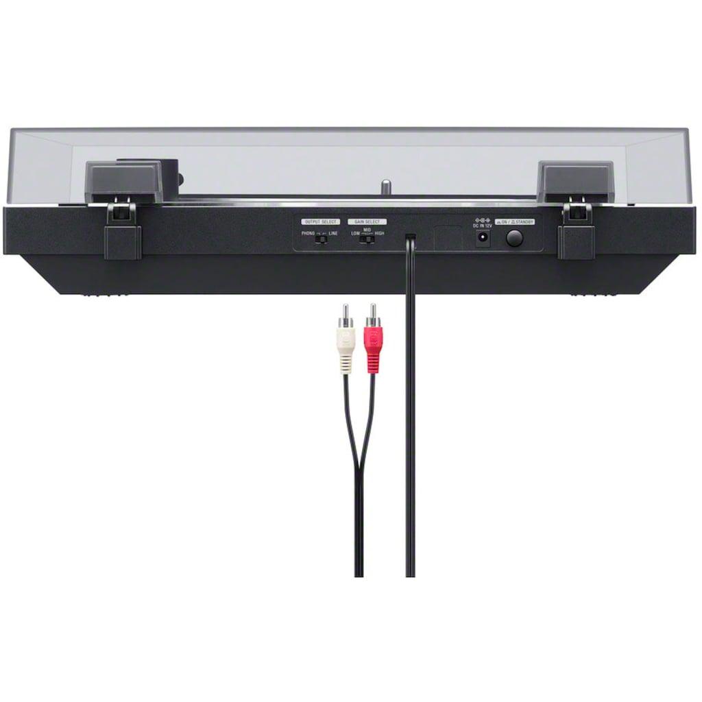 Sony Plattenspieler »PS-LX310BT«, Phono Vorverstärker, Auto-Play Funktion, Aluminium Plattenteller