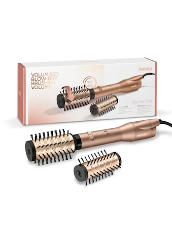 BaByliss Warmluftbürste »AS952E Big Hair Dual«, 2 Aufsätze}, rotierende Warmluftbürste... kaufen