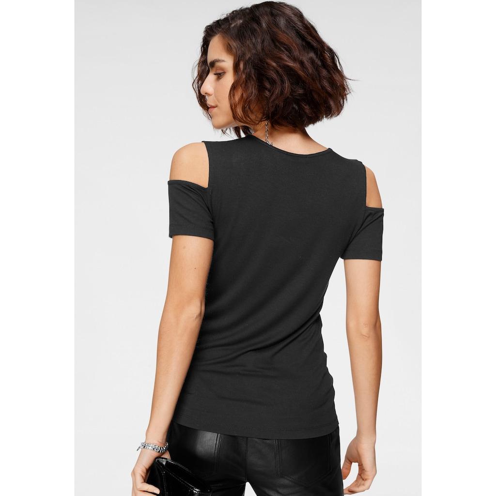 Tamaris V-Shirt, im Cold-Shoulder-Look