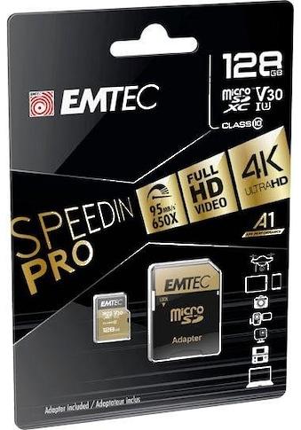 EMTEC »microSD UHS - I U3 V30 SpeedIN PRO« Speicherkarte (95 MB/s Lesegeschwindigkeit maximal) kaufen