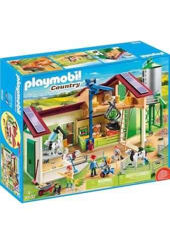 """Playmobil® Konstruktions - Spielset """"Großer Bauernhof mit Silo (70132), »Country«"""", Kunststoff kaufen"""