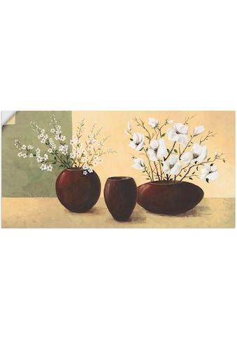 Artland Wandbild »Magnolien«, Vasen & Töpfe, (1 St.), in vielen Größen & Produktarten... kaufen