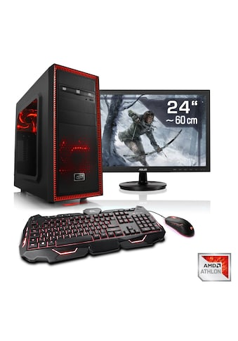 "CSL Gaming PC Set Athlon X4 860K | GTX 1050 Ti | 8 GB RAM | 24"" TFT »Sprint T2812 Windows 10 Home« kaufen"