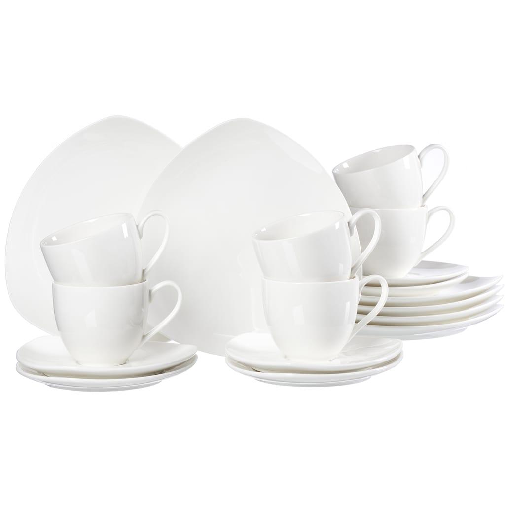 Ritzenhoff & Breker Kaffeeservice »Triangolo«, (Set, 18 tlg.), Dreieck-Form