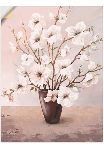 Artland Wandbild »Magnolien«, Blumen, (1 St.), in vielen Größen & Produktarten -... kaufen