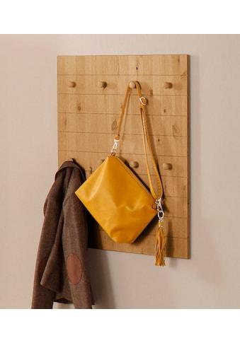 Home affaire Garderobenpaneel »Ella«, aus schönem massivem Kiefernholz, mit 8 Haken,... kaufen