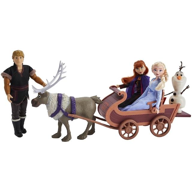 """Hasbro Anziehpuppe """"Die Eiskönigin II, Puppenschlitten, Abenteuerliche Schlittenfahrt"""" (Set)"""