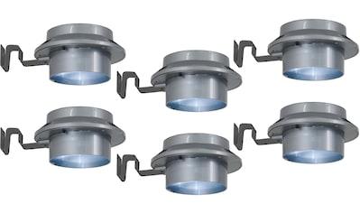 näve LED Dachrinnenleuchte »LED Solar Leuchten - 6er Set«, LED-Board, Tageslichtweiß,... kaufen