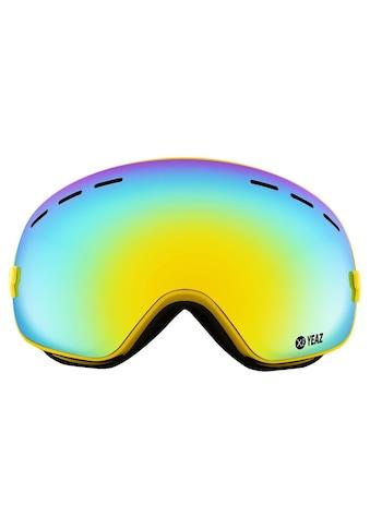 YEAZ Skibrille »XTRM-SUMMIT«, mit Rahmen gelb kaufen