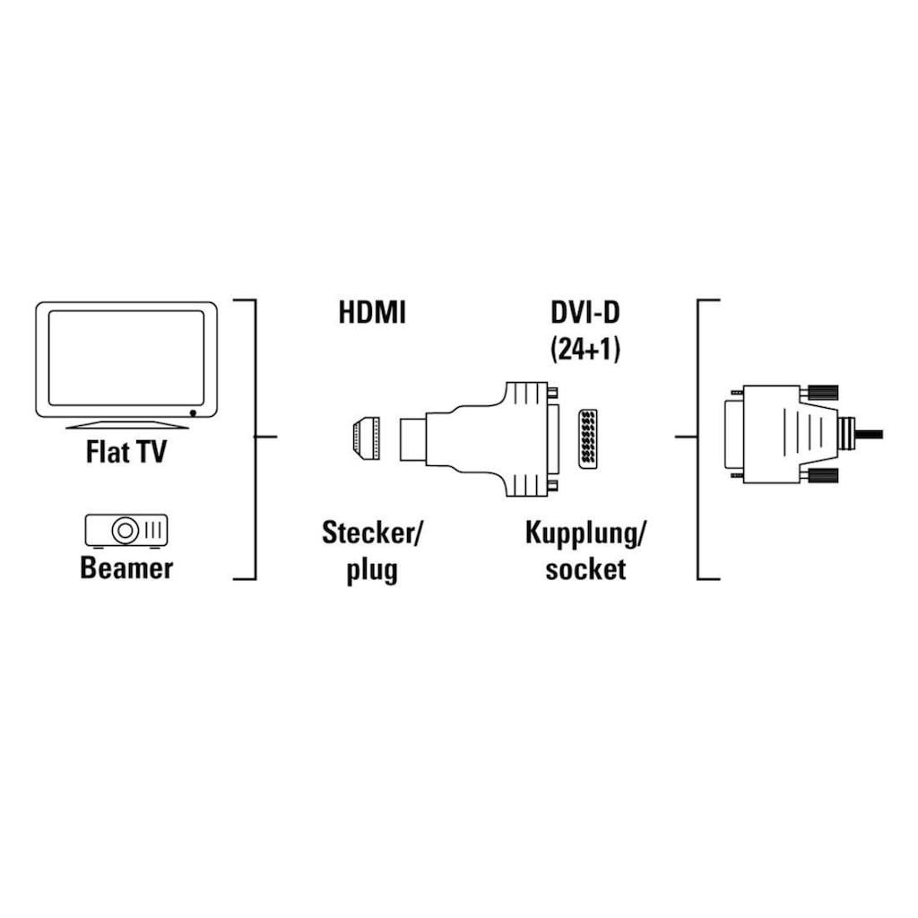 Hama DVI-HDMI-Adapter, HDMI-Stecker - DVI-Kupplung, geschirmt