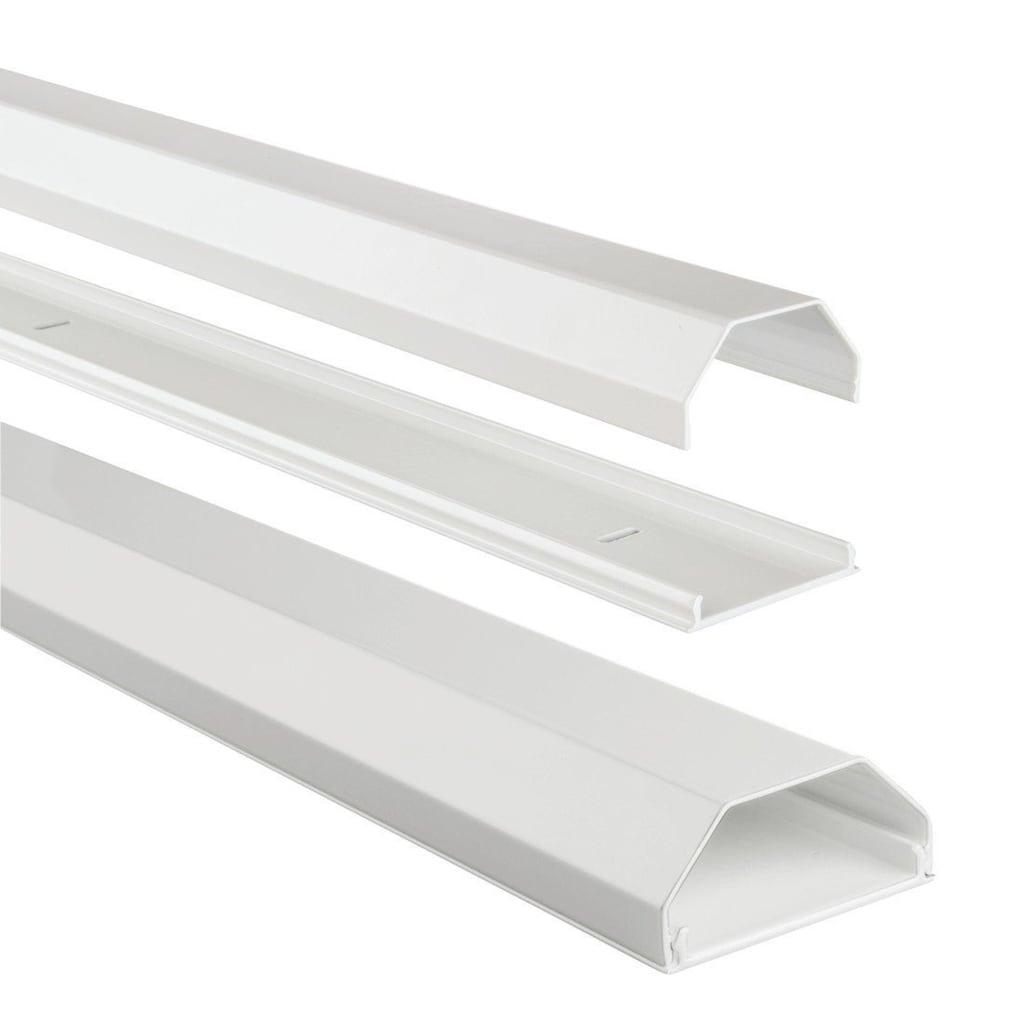 Hama Alu-Kabelkanal, eckig, 110/5/2,6 cm, Weiß