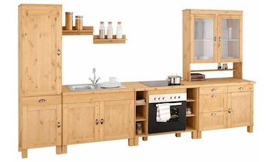 Home affaire Küchenzeile »Oslo«, ohne E - Geräte, Breite 350 cm, 35 mm starke Arbeitsplatte kaufen