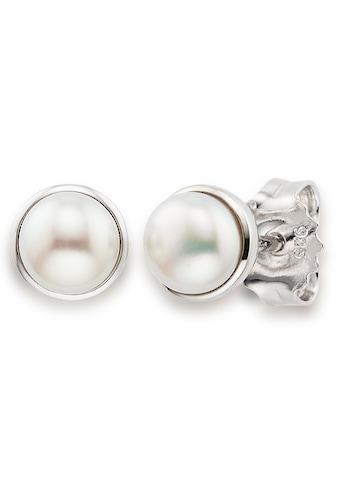 Bruno Banani Paar Ohrstecker »Perlen, B0147E/90/46/1«, mit Süßwasserzuchtperlen kaufen