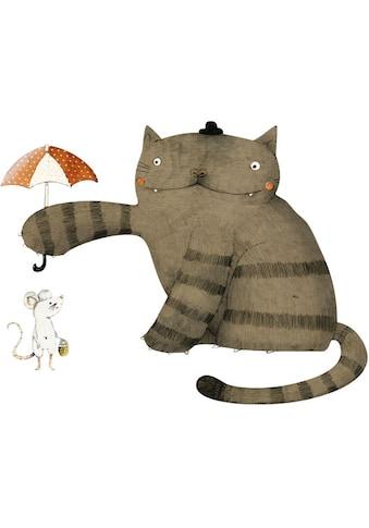Wall-Art Wandtattoo »Freunde Katze und Maus« kaufen