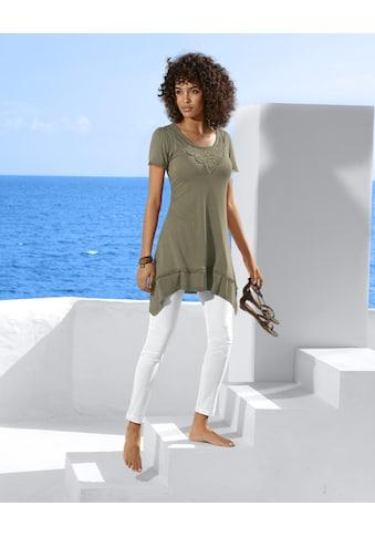 Longshirt mit Spitze kaufen