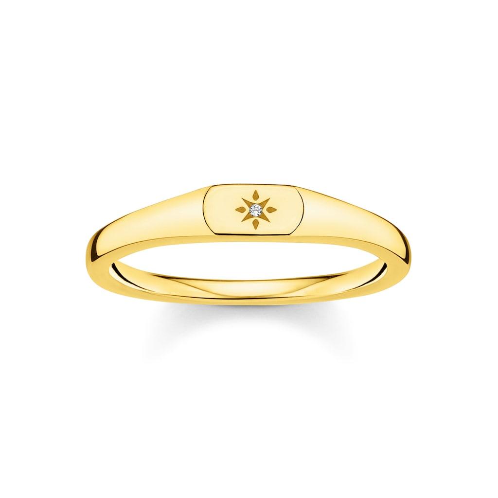 THOMAS SABO Fingerring »Stern, TR2314-414-14-48, 50, 52, 54, 56, 58, 60«, mit Zirkonia