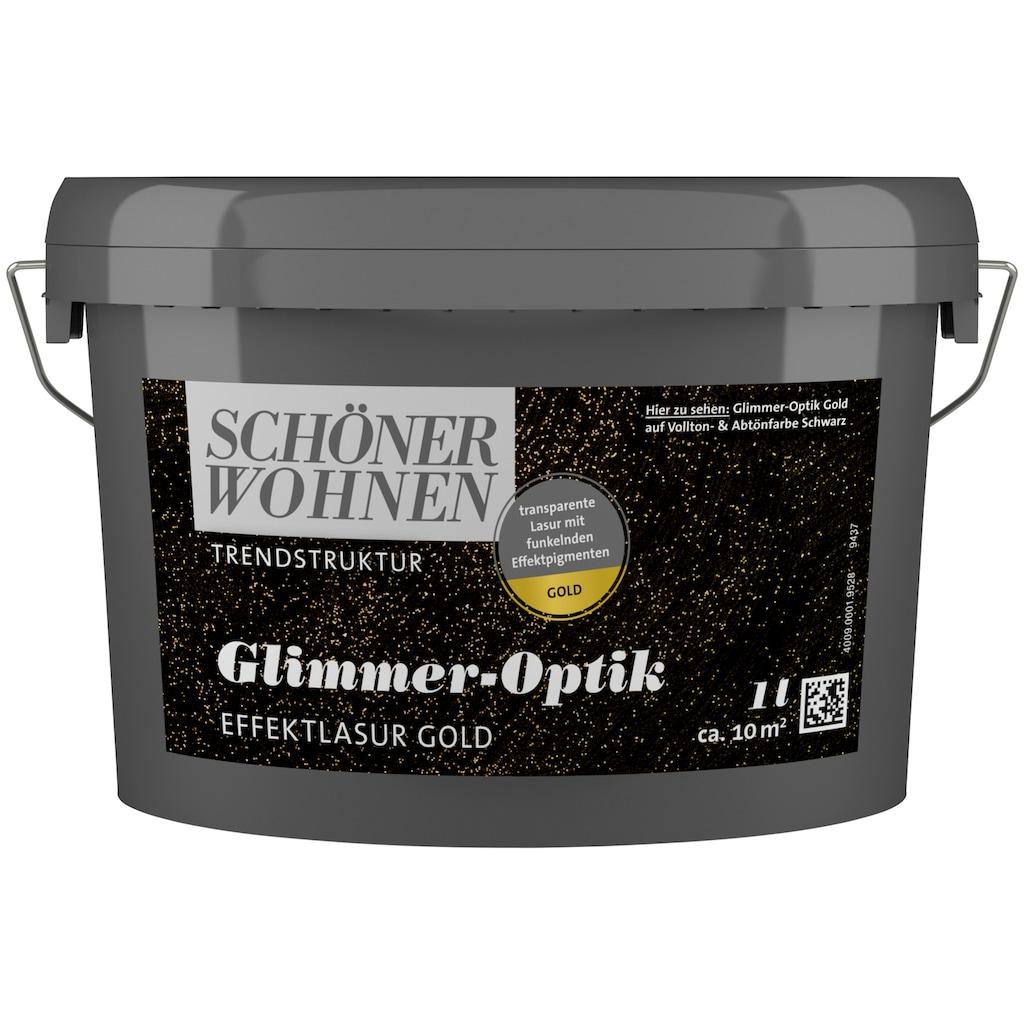 SCHÖNER WOHNEN-Kollektion Wohnraumlasur »Glimmer-Optik Effektlasur gold«, 1 l