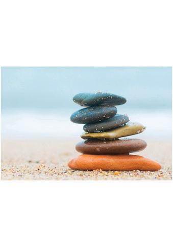 Art & Pleasure Holzbild »Balanced stones«, Landschaften kaufen