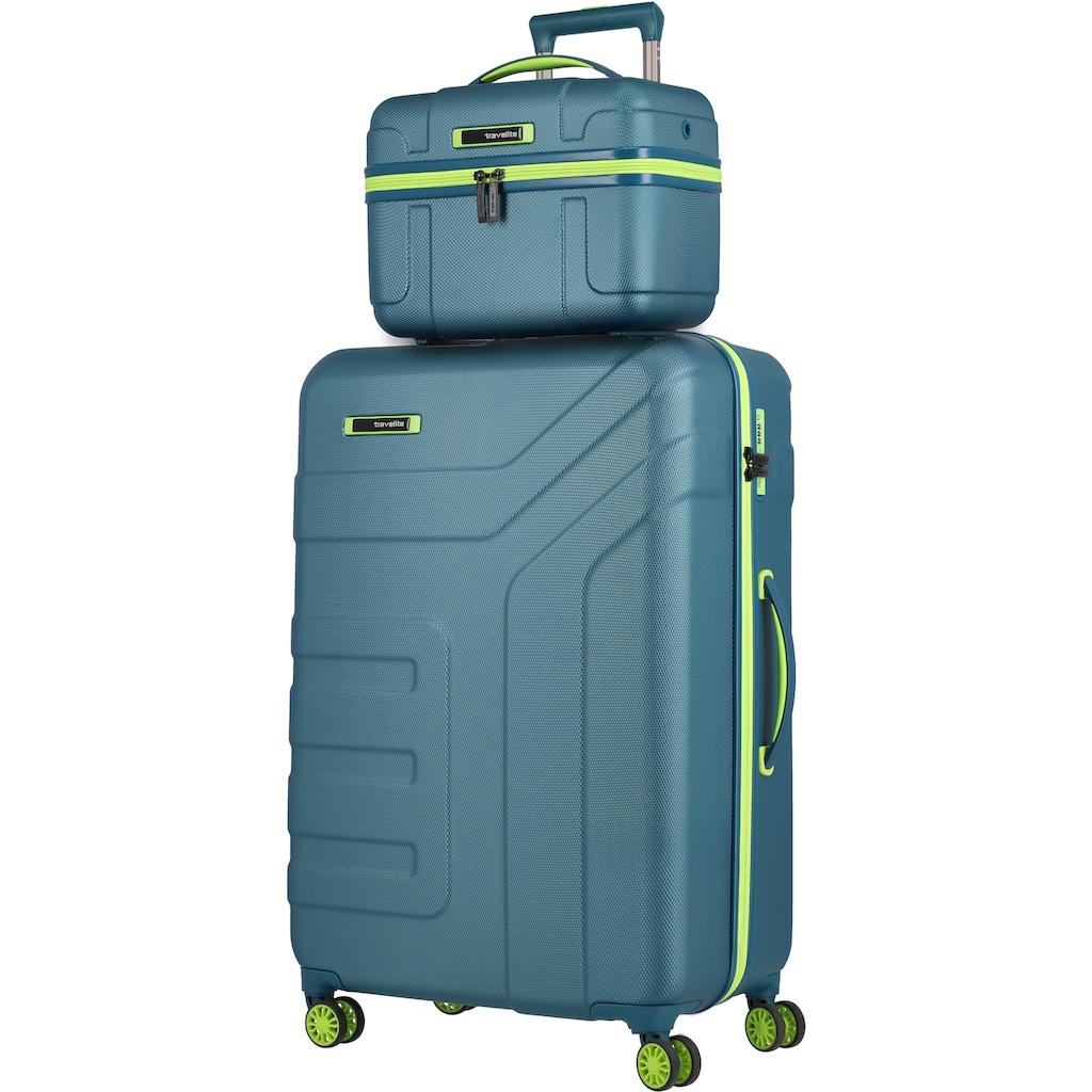 travelite Beautycase »Vector, Petrol/Limone«