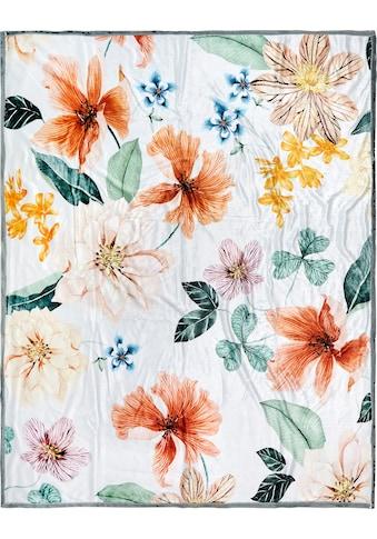 Descanso Plaid »Annabelle«, mit Blumendruck kaufen