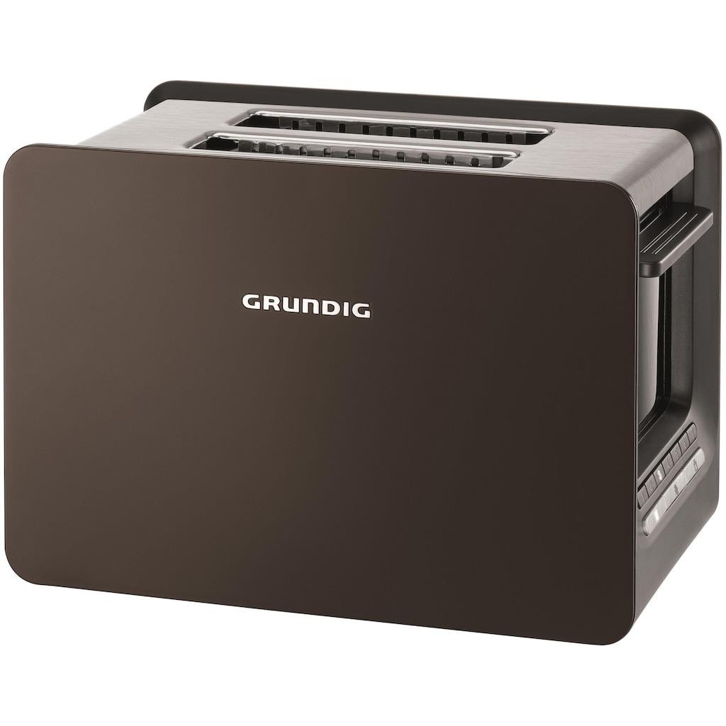 Grundig Toaster »TA 7280 G«, 2 kurze Schlitze, 870 W