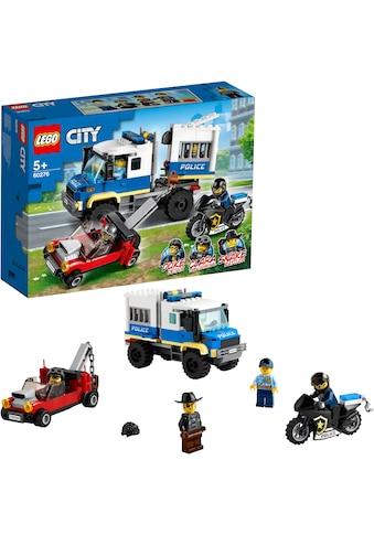LEGO® Konstruktionsspielsteine »Polizei Gefangenentransporter (60276), LEGO® City... kaufen