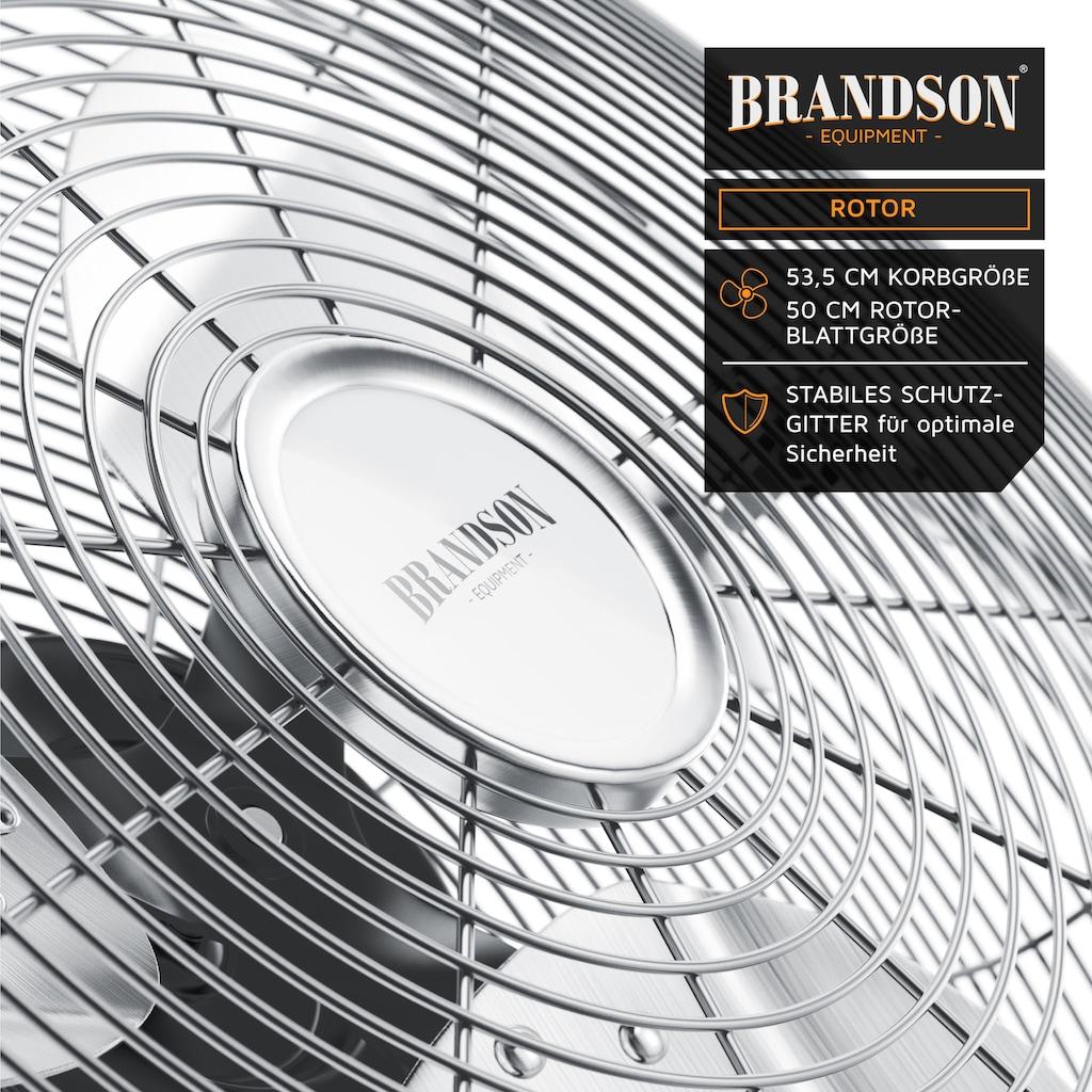 Brandson Windmaschine »Bodenventilator 50cm Ø«, 160 W / neigbarer Ventilatorkopf