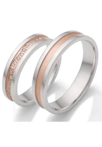 Firetti Trauring mit Gravur »5,0 mm, rhodiniert, bicolor, mit Diamantschnitt« kaufen