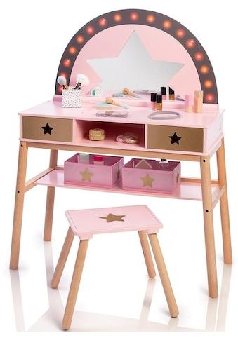 MUSTERKIND® Schminktisch »Malva, rose/ gold«, mit Stuhl; für Kinder kaufen