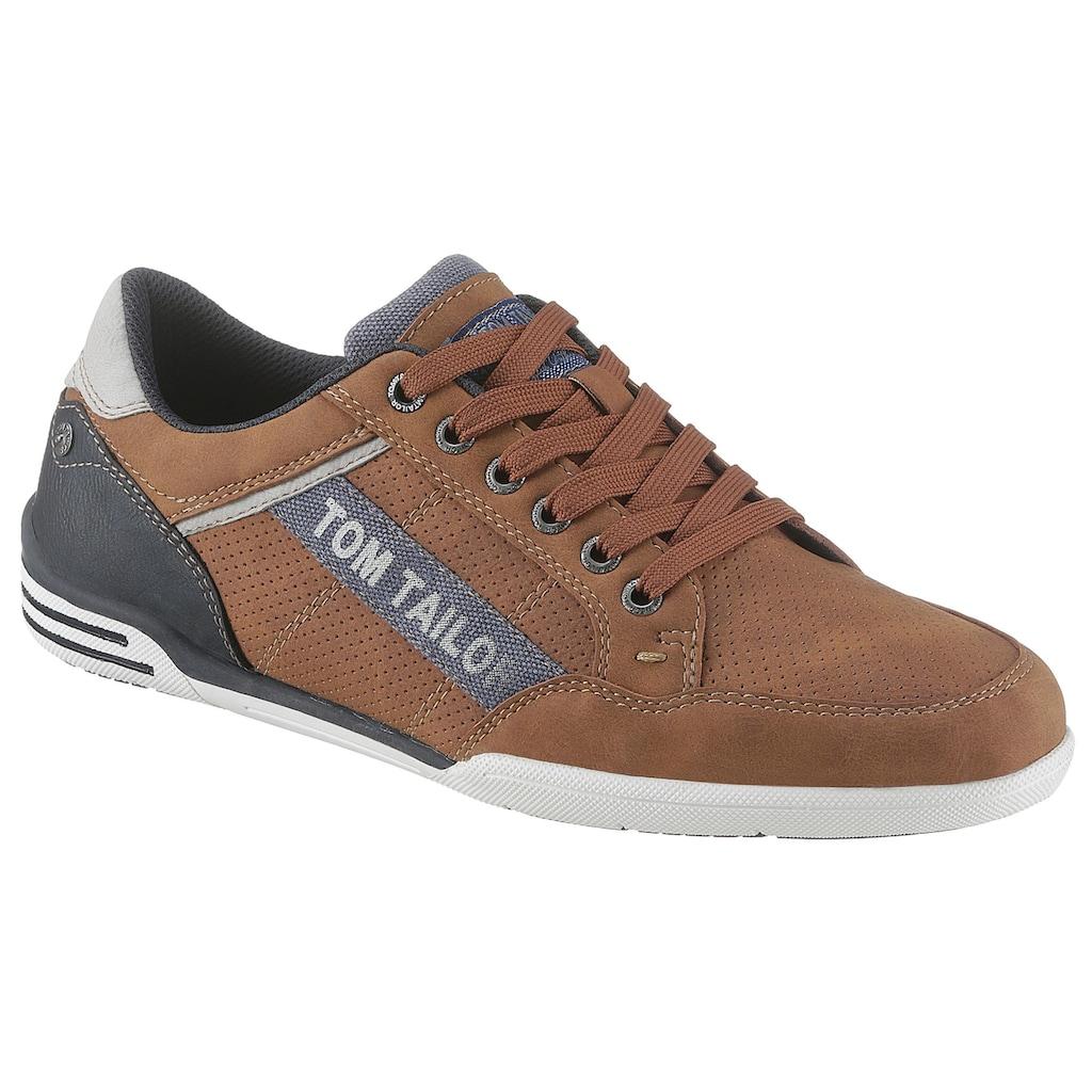 TOM TAILOR Sneaker, mit Logoapplikation
