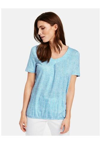 GERRY WEBER T - Shirt 1/2 Arm »Blusenshirt mit Kästchendruck« kaufen