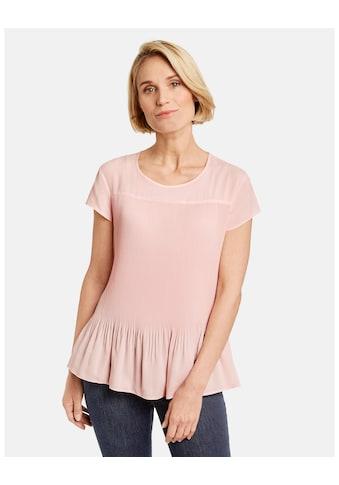 GERRY WEBER Bluse 1/2 Arm »Blusenshirt mit Plisseefalten« kaufen