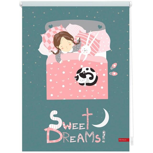 Seitenzugrollo »Klemmfix Digital Sweet Dreams«, LICHTBLICK, verdunkelnd, ohne Bohren, freihängend