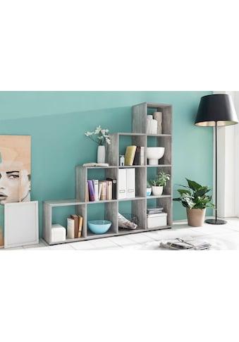 Raumteiler -  und Treppenregal »mit 10 Fächern«, Maße138,5x29x143 cm kaufen