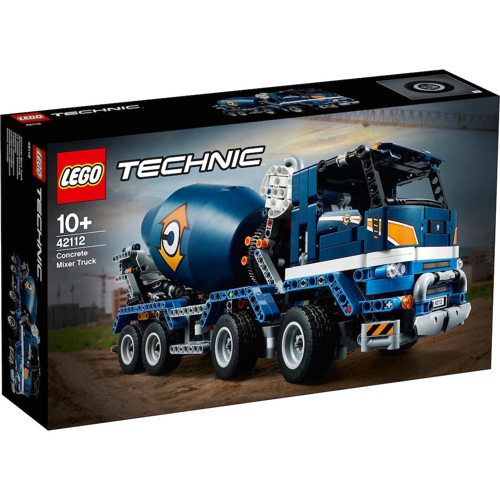LEGO® Konstruktionsspielsteine »Betonmischer-LKW (42112), LEGO® Technic«, (1163 St.), Made in Europe