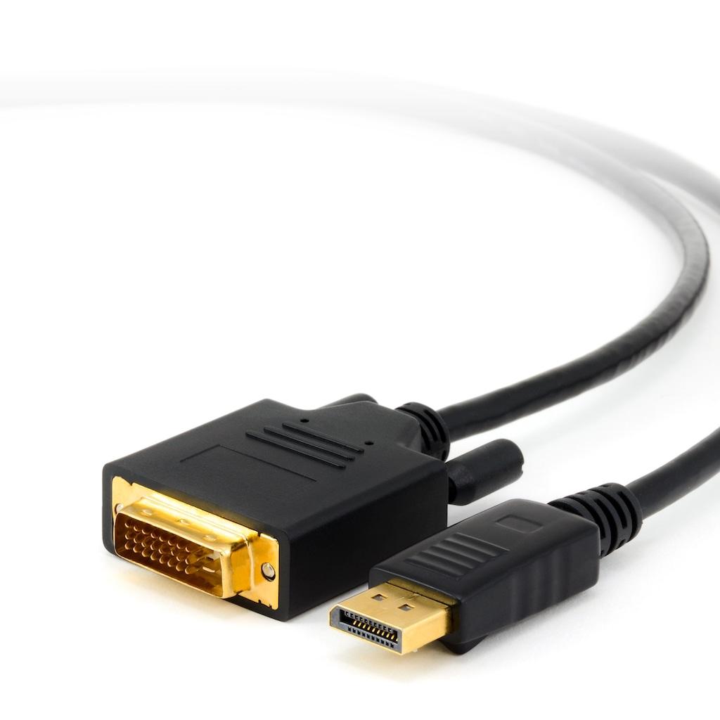 CSL DisplayPort auf DVI Monitorkabel / Zertifiziert »DVI-Stecker zu DP-Stecker (Male)«