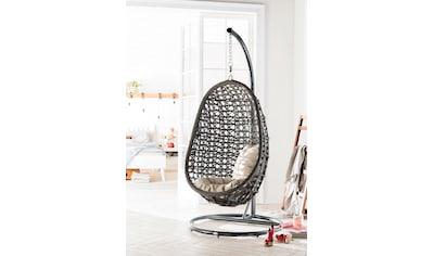 DESTINY Hängesessel »Coco«, Kunststoff, grau, inkl. Sitz -  und Rückenkissen kaufen
