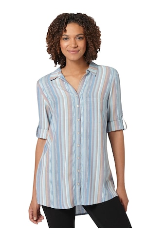 Casual Looks Longbluse im sommerlichem Materialmix kaufen