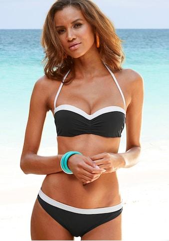 LASCANA Bügel-Bandeau-Bikini, mit kontrastfarbener Einfassung kaufen