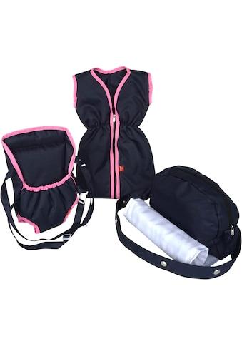 Knorrtoys® Puppen Schlafsack »Puppenzubehörset - navy blue«, mit Puppenbauchtrage und... kaufen