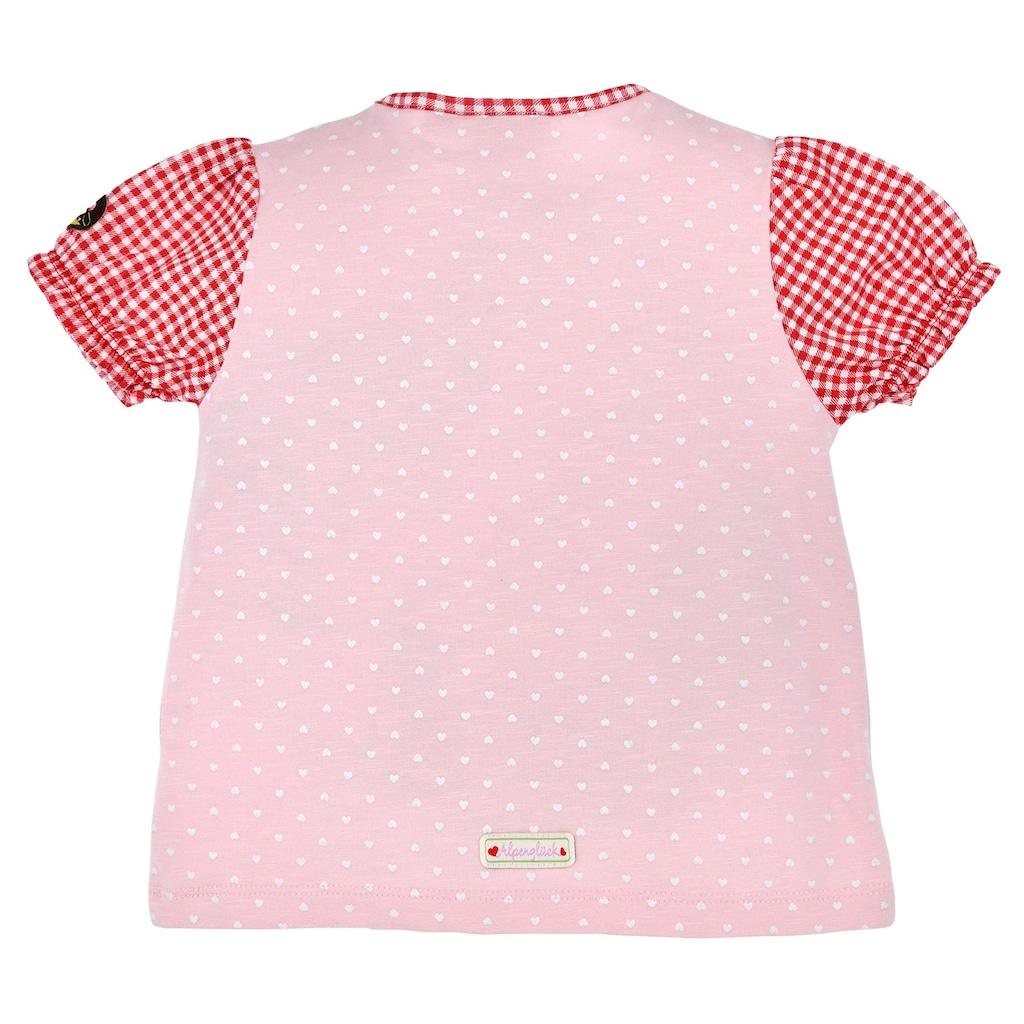 BONDI Trachtenshirt, mit süßem Herzprint