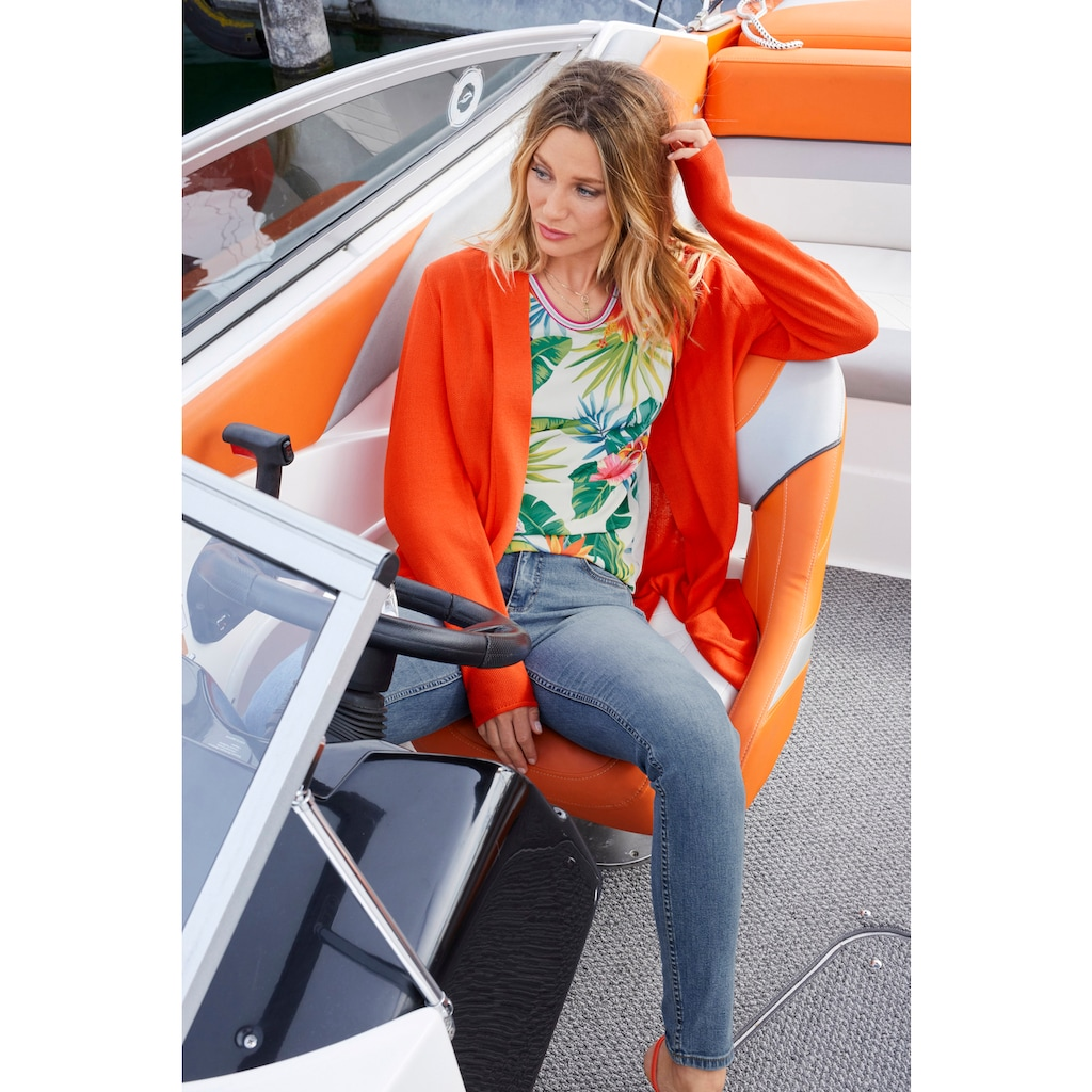 Aniston CASUAL T-Shirt, mit Tropical-Print