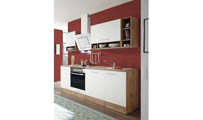 RESPEKTA Küchenzeile »Lübeck«, mit E-Geräten, Breite 220 cm kaufen