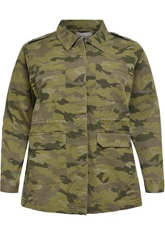 ONLY CARMAKOMA Fieldjacket, in Tarnfarben-Optik mit aufgesetzten Taschen kaufen