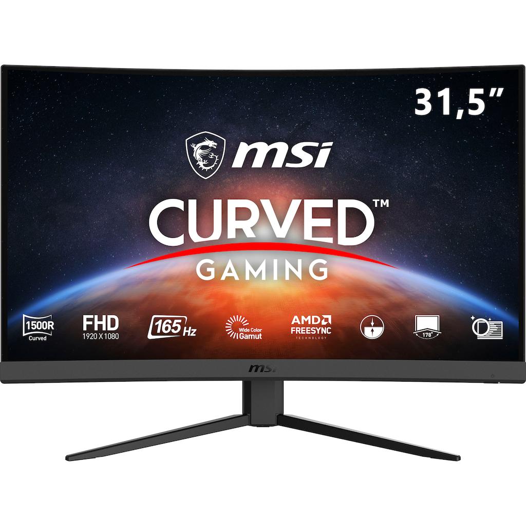 """MSI Gaming-Monitor »Optix G32C4«, 80 cm/31,5 """", 1920 x 1080 px, Full HD, 1 ms Reaktionszeit, 165 Hz, 3 Jahre Herstellergarantie"""