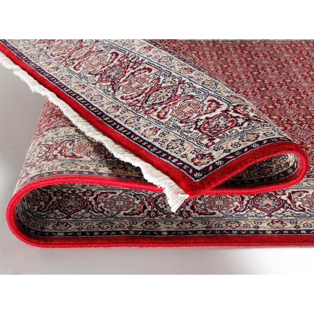 OCI DIE TEPPICHMARKE Orientteppich »Sultan Herati«, rechteckig, 5 mm Höhe, handgeknüpft, mit Fransen, Wohnzimmer
