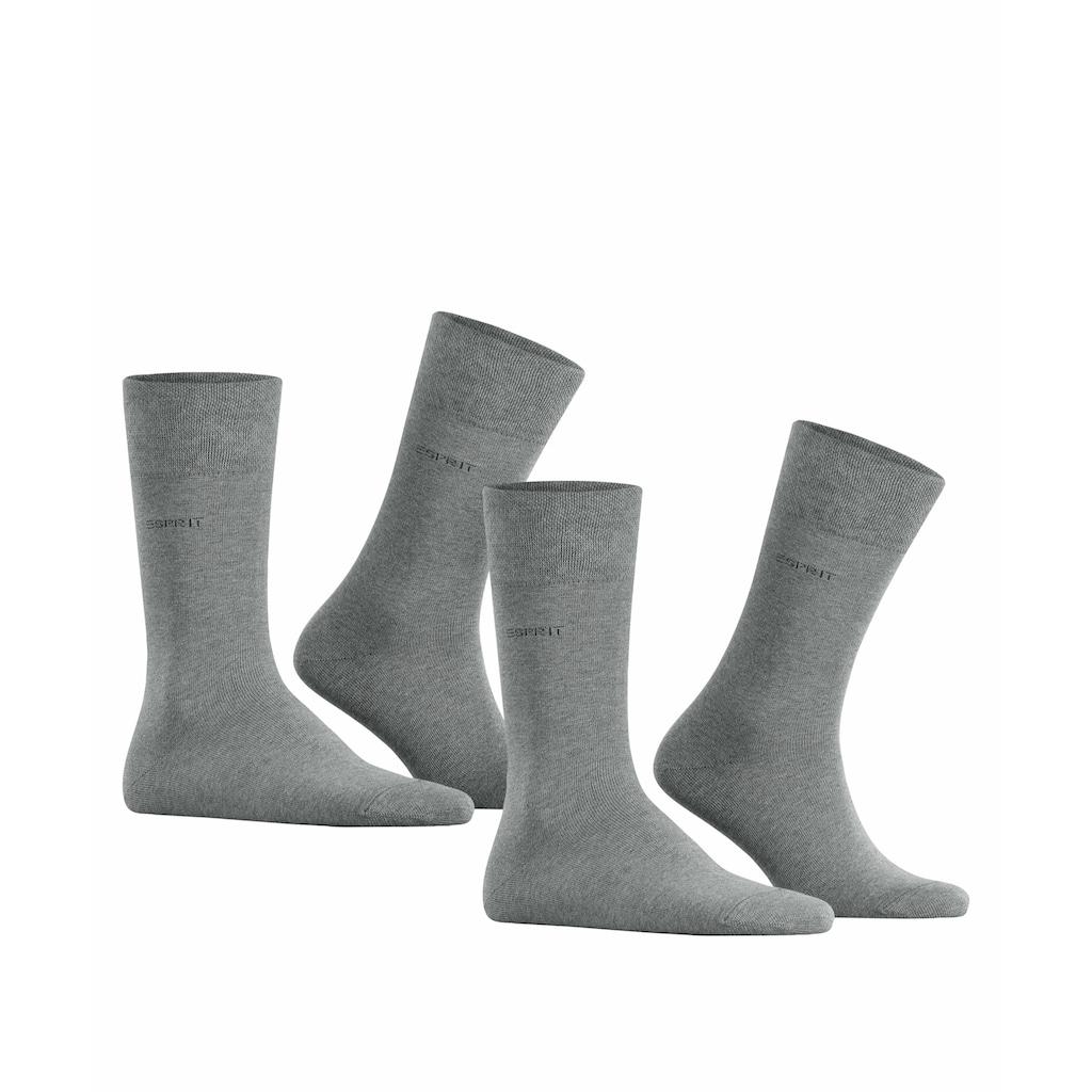 Esprit Socken »Basic Easy 2-Pack«, (2 Paar), mit druckfreiem Komfortbund