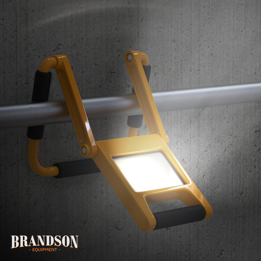 Brandson LED Baustrahler mit Akku, 2 Dimmstufen & 600 Lumen