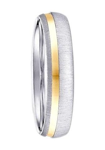 Firetti Trauring mit Gravur »5,0 mm, glanz, gebürstet, bicolor« kaufen