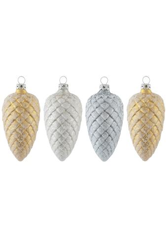 "Thüringer Glasdesign Christbaumschmuck ""White Elegance"" (4 - teilig) kaufen"